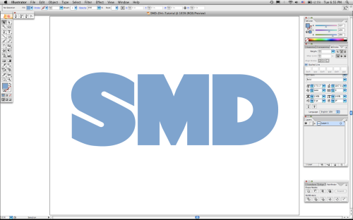 SMD Textured Text Tutorial 01